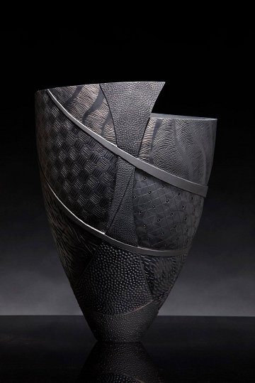 Sally Barnett Black carving